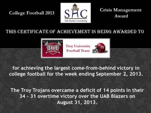Certificate - Week 1 - Troy