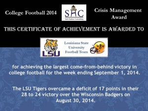 Certificate - Week 1 - LSU