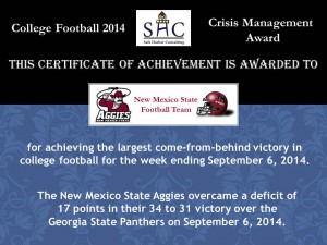 Certificate - Week 2 - New Mexico State