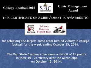 Certificate - Week 9 - Ball State